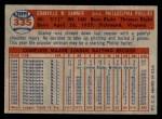1957 Topps #335  Granny Hamner  Back Thumbnail