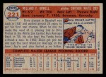 1957 Topps #221  Dixie Howell  Back Thumbnail