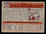 1957 Topps #234  Dick Cole  Back Thumbnail