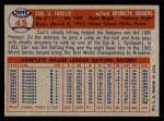 1957 Topps #45  Carl Furillo  Back Thumbnail