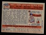 1957 Topps #276  Jim Pyburn  Back Thumbnail