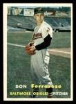 1957 Topps #146  Don Ferrarese  Front Thumbnail