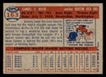1957 Topps #163  Sammy White  Back Thumbnail