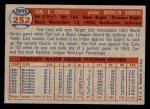 1957 Topps #252  Carl Erskine  Back Thumbnail