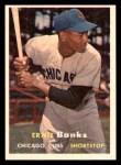 1957 Topps #55  Ernie Banks  Front Thumbnail