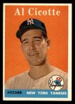 1958 Topps #382  Al Cicotte  Front Thumbnail