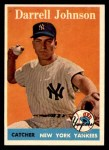 1958 Topps #61 WN Darrell Johnson  Front Thumbnail