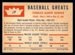 1960 Fleer #7  Chief Bender  Back Thumbnail