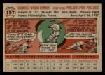 1956 Topps #197  Granny Hamner  Back Thumbnail