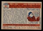 1957 Topps #91  Mack Burk  Back Thumbnail