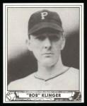 1940 Play Ball Reprint #165  Bob Klinger  Front Thumbnail