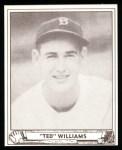 1940 Play Ball Reprint #27  Ted Williams  Front Thumbnail