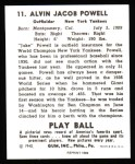 1940 Play Ball Reprint #11  Jake Powell  Back Thumbnail