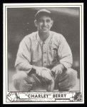 1940 Play Ball Reprint #190  Charles Berry  Front Thumbnail