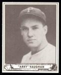 1940 Play Ball Reprint #107  Arky Vaughan  Front Thumbnail