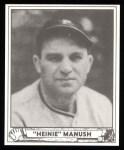 1940 Play Ball Reprint #176  Heinie Manush  Front Thumbnail