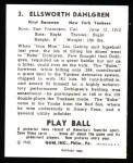 1940 Play Ball Reprint #3  Babe Dahlgren  Back Thumbnail
