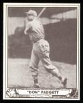 1940 Play Ball Reprint #109  Don Padgett  Front Thumbnail