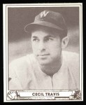 1940 Play Ball Reprint #16  Cecil Travis  Front Thumbnail