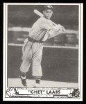 1940 Play Ball Reprint #206  Chet Laabs  Front Thumbnail