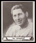 1940 Play Ball Reprint #116  Al Schacht  Front Thumbnail