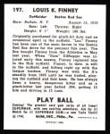 1940 Play Ball Reprint #197  Lou Finney  Back Thumbnail