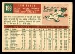 1959 Topps #199  Leo Kiely  Back Thumbnail