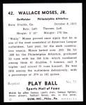 1941 Play Ball Reprint #42  Wally Moses  Back Thumbnail