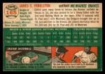 1954 Topps #165  Jim Pendleton  Back Thumbnail