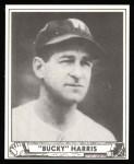 1940 Play Ball Reprint #129  Bucky Harris  Front Thumbnail