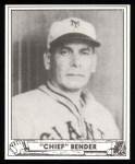 1940 Play Ball Reprint #172  Chief Bender  Front Thumbnail