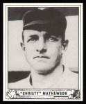 1940 Play Ball Reprint #175  Christy Mathewson  Front Thumbnail