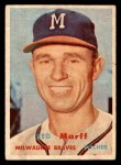 1957 Topps #321  Red Murff  Front Thumbnail