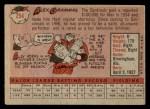 1958 Topps #254  Alex Grammas  Back Thumbnail