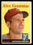 1958 Topps #254  Alex Grammas  Front Thumbnail