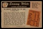 1955 Bowman #47  Sammy White  Back Thumbnail