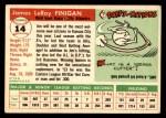 1955 Topps #14  Jim Finigan  Back Thumbnail