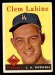 1958 Topps #305  Clem Labine  Front Thumbnail