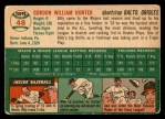 1954 Topps #48  Billy Hunter  Back Thumbnail