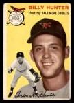 1954 Topps #48  Billy Hunter  Front Thumbnail