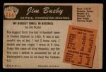 1955 Bowman #166  Jim Busby  Back Thumbnail