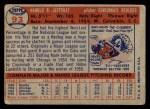 1957 Topps #93  Hal Jeffcoat  Back Thumbnail