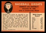 1961 Fleer #41  Gabby Hartnett  Back Thumbnail