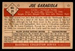 1953 Bowman #21  Joe Garagiola  Back Thumbnail