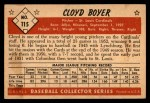 1953 Bowman #115  Cloyd Boyer  Back Thumbnail