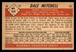 1953 Bowman #119  Dale Mitchell  Back Thumbnail