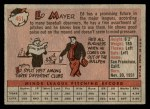 1958 Topps #461  Ed Mayer  Back Thumbnail