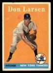 1958 Topps #161  Don Larsen  Front Thumbnail
