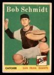1958 Topps #468  Bob Schmidt  Front Thumbnail