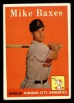 1958 Topps #302  Mike Baxes  Front Thumbnail